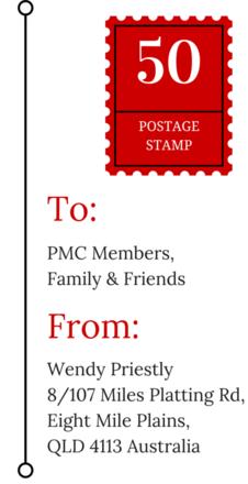 PMC Postcard Stamp